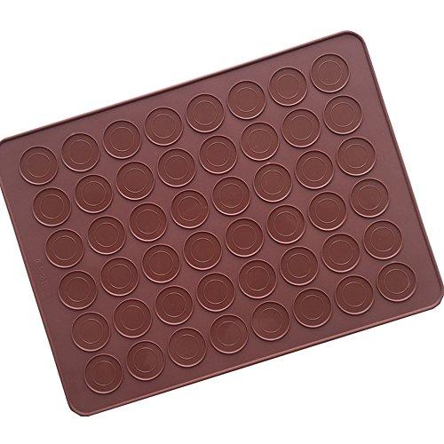 48 Trous Macaron Silicone Cake Moule Glace Plateau Moule Chocolat Crème Glacée Cuisson Décoration Cuisine Moule pour Usage Quotidien Célébration Partie [Couleur Aléatoire]