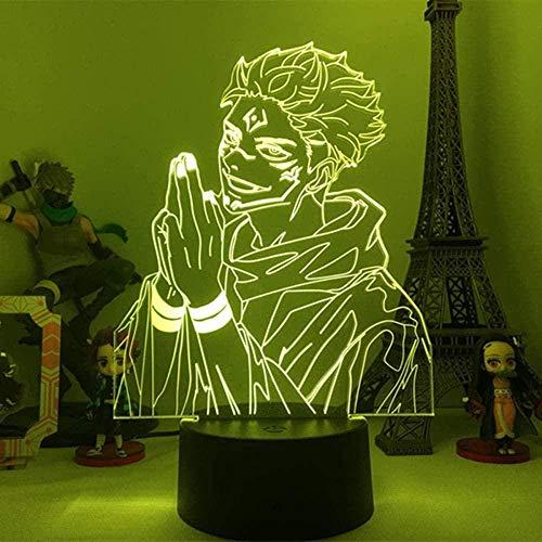 A-Generic 3D LED Niños Noche Luz Anime Jiu Jitsu Luz de Noche Un Dormitorio Luz de cumpleaños Luz de Regalo Jiu Jitsu Kaise Gadget-N28