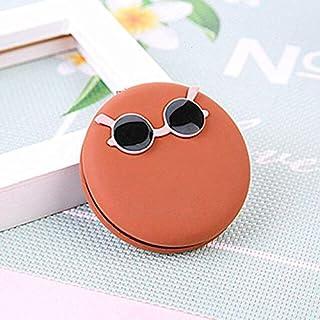 مرايا ماكياج - مرآة صغيرة صغيرة للجيب قابلة للطي على الوجهين مرآة مستحضرات التجميل هدية الإناث أدوات التجميل السفر (1)