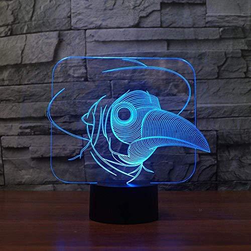 3D Slide Show Vogels-Ogen Creatieve led Nacht Licht Kinderkamer Decoratie 3D Nacht Licht Kerstversiering Licht