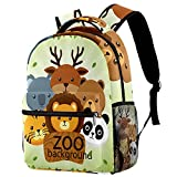 Bolsas escolares para niñas y niños, Be Free Cool Koala Cat Mochila casual duradera para estudiantes, Cute Zoo Bear Fox Panda Koala,