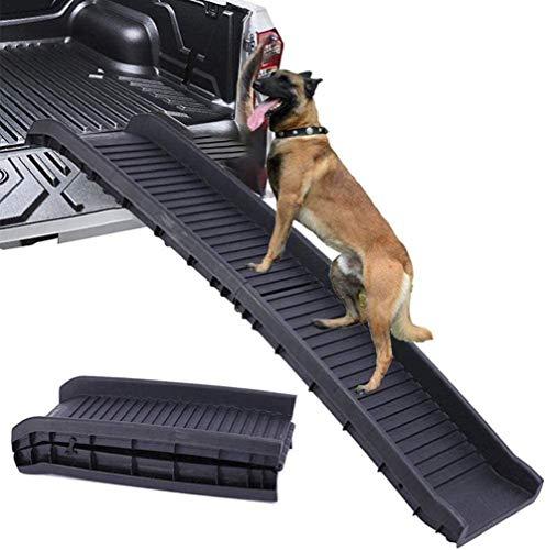 QSXF Hunderampen für großen Hund Klapp für Hochbetten Lastwagen und Geländewagen Hund Rampe leichten Hund Falten Haustier Leiter Rampe Hund Treppen Treppe,Black
