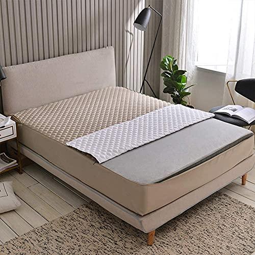 CHAJI Cubierta Premium del colchón con Cremallera, Tapa de colchón de Tela de algodón, sábana de Cama Acolchada con Todo Incluido de Seis Lados de 20 cm de 20 cm,Beige,180x220cm