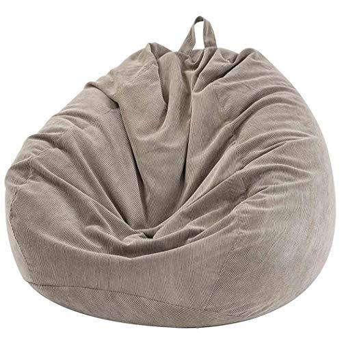 Dr.Lefran Lazy Sofas Cover, Ohne Sitzsack Sofabezug zu füllen, Cord Liegesitz Sitzsack, für Couch Tatami Wohnzimmer, für Erwachsene und Kinder,Grau