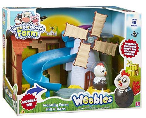Weebledown Farm – Weebles – Le Moulin – Aire de Jeu + 1 Figurine Culbuto 5 cmt