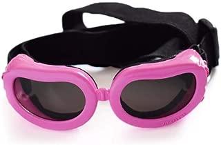 ペットメガネ、紫外線保護犬用ゴーグル、調節可能な猫サングラス、折りたたみアイウェア、防風性日焼け止め用犬子犬猫,Pink