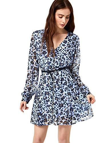 Liu Jo Vestito Corto Realizzato in Georgette WA0148T4165 46, U9629 Blue Smart