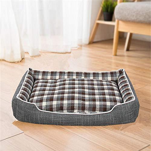 Cama para Perros de Felpa Suave y cálida Cama para Perros Cama para Dormir mullida sofá para Mascotas Perros pequeños y medianos de Varios tamaños -marrón_Los 50cm