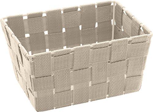 Wenko 20685100 Adria Corbeille Mini Long PVC Beige Dimensions 19 x 14 x 9 cm