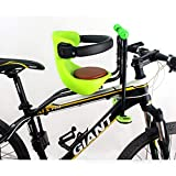 AIBAB Asiento De Bicicleta para Niños Asiento De Bebe Asiento Delantero para Bicicleta De Montaña Almohadilla De Silla Infantil Portabicicletas Green