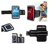 DFVmobile - Armbandtasche Sport Armband Berufsausrüstung Wasserabweisende aus Neopren Premium für Sony Xperia XA1 Ultra DUAL, G3212 - Schwarz