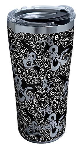Tervis Dungeons & Dragons-Pattern Vaso aislado, Acero Inoxidable, metalizado