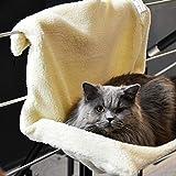 DZL- Hamaca para Gato Hamaca Ventana de Gato, Cama Invierno Asiento Colgante con 4 Ventosas Grandes para Tomar la Siesta y Tomar el Sol Durable (S-SOY2035)
