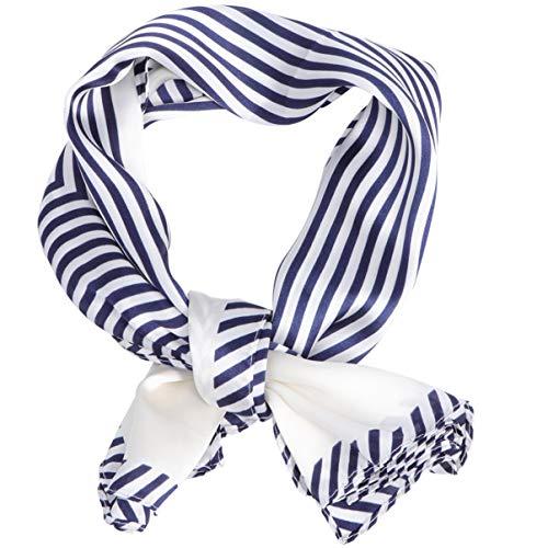LUOEM Bufanda Cuadrada de Seda Pañuelo para El Cabello Bufanda para El Pelo Chal Envuelve Diademas Bufandas para El Cuello Cara Pañuelo Protección Solar Protección Facial para Mujeres (Rojo)