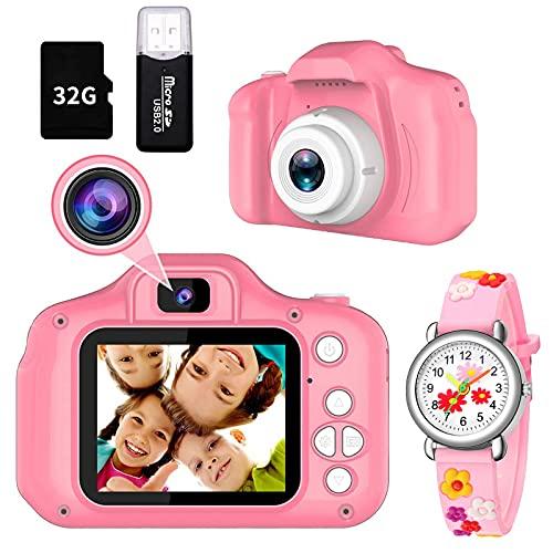 Cámara Digital para Niños, 1080P 2.0' HD Selfie Video Cámara Infantil, Juguete Regalos Ideales para Niños Niñas de 3 4 5 6 7 8 9 10 Años, Cámara Fotos Niños Regalos para Niños y niñas