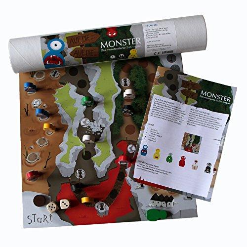 AUF DIE MONSTER (Medium) - das Monster-Brettspiel. Mit großen Monster Spielfiguren aus Holz