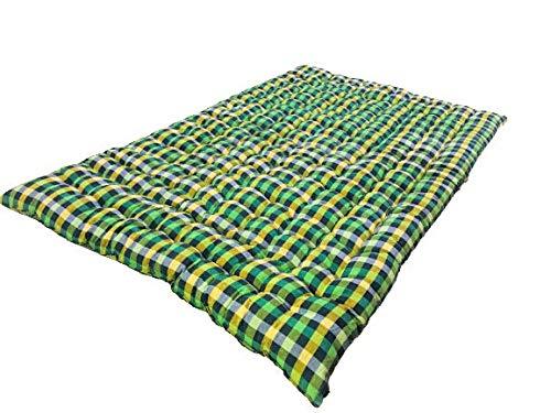 ATOOTFUSION Soft Cotton Filled Multicolour Mattress | Gadda (1 Sleeping Capacity - 3 x 6 ft or 72 x 36 Inch)