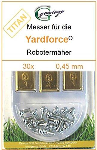 30 Titan Ersatz-Messer Qualitäts-Klingen 0,45mm Yardforce SC 600 Eco SC600-Eco SA 900 SA900 SA 600 H SA600H