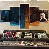 SHENQI- Cuadro En Lienzo, Imagen Impresión, Pintura Decoración, Cuadro Moderno En Lienzo 5 Piezas XXL- Póster Juego De Tronos Daenerys Targaryen -Murales Pared Hogar Decor