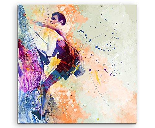 Klettern II 60x60cm Wandbild SPORTBILD Aquarell Art tolle Farben von Paul Sinus