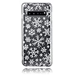 BRILA Case for Galaxy S10, Crystal Clear Christmas Snowflake Pattern Design, Soft TPU Shockproof Case Compatible with Galaxy S10 6.1'