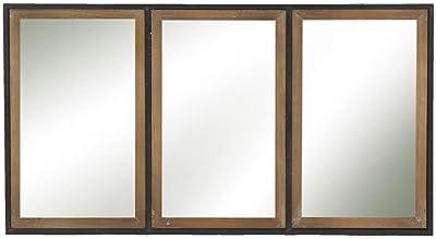 Amazoncom Deco 79 60160 Wooden Wall Mirror 44 X 22