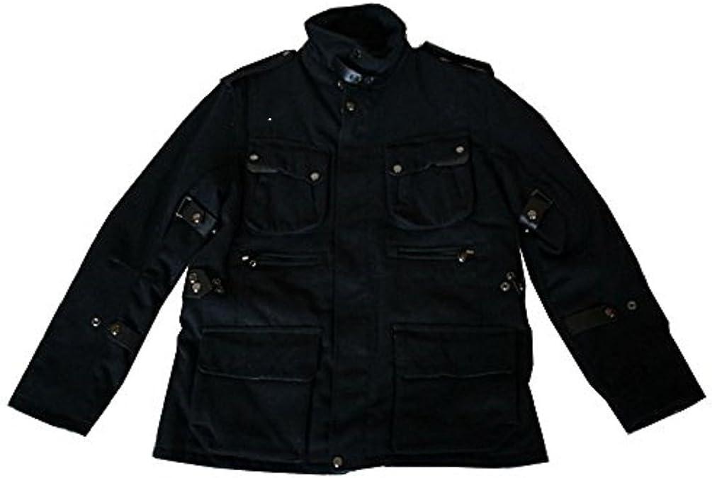 Premium Lounge Mens Stylish Polyester-Wool Blend Coat
