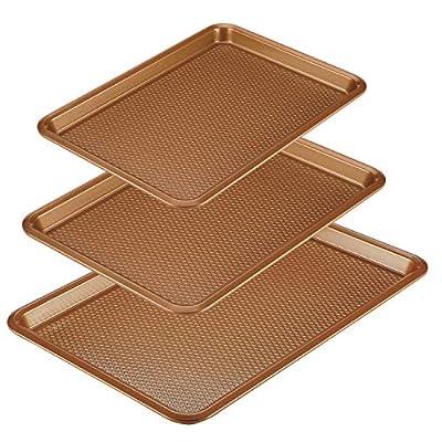 Ayesha Curry Nonstick Bakeware Set/Baking Pans - 3 Piece, Brown