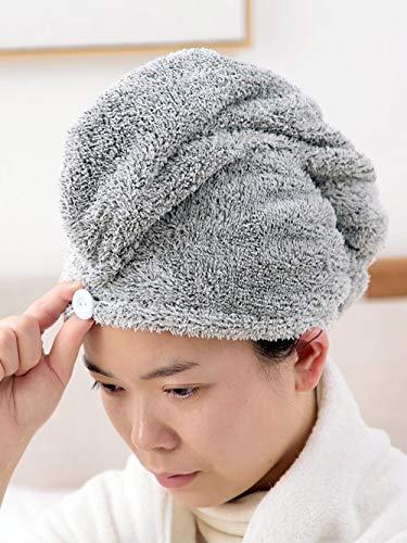 anyuq66qq Bonnet De Douche Bonnet De Douche En Fibre De Bambou Absorbant Les Cheveux Secs Avec Capuchon Absorbant Les Cheveux Des Femmes