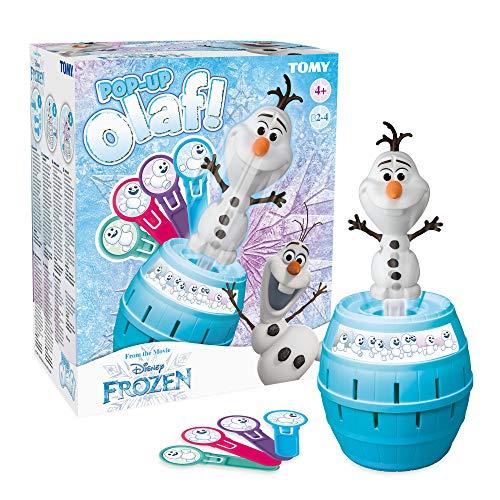 TOMY Pop Up Olaf Kinder Brettspiel, Familien- und Vorschulkinderspiel, Action-Spiel für Kinder zwischen 4 - 8 Jahren, für Jungen und Mädchen