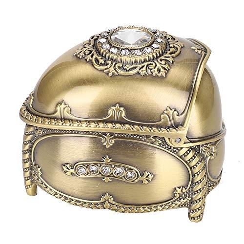 OIHODFHB Caja de almacenamiento de diamantes de imitación con incrustaciones de aleación de zinc Organizador exquisito de