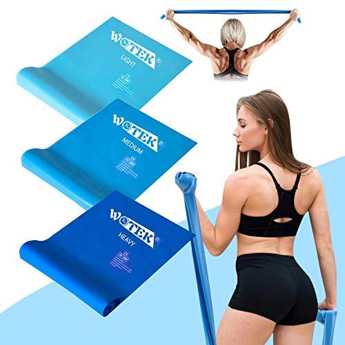 WOTEK Elastici Fitness Bande Elastiche Fitness (3 Pezzi) - Fasce Elastiche con 3 Livelli di Resistenza, Bande di Resistenza Fitness per Crossfit, Pilates, Yoga, Riabilitazione, Stretching, Allenamento
