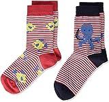 Living Crafts Socken, 2er-Pack 35/38, poppy/white