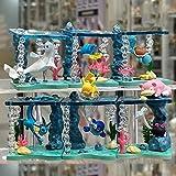 6 Unids / Set Figuras De Pokemon Sistema De Agua Escena De Mar Profundo Mundo Submarino Pikachu Squirtle Caja Ciega Juego Completo Decoración De Regalo