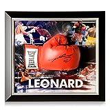 exclusivememorabilia.com Guante de Boxeo Firmado por Sugar Ray Leonard. Enmarcado   Recuerdos Deportivos autografiados