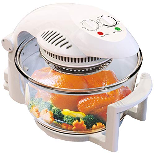 Michael James Electric Halogen Oven with Hinged Lid, 17L Capacity, with Free...