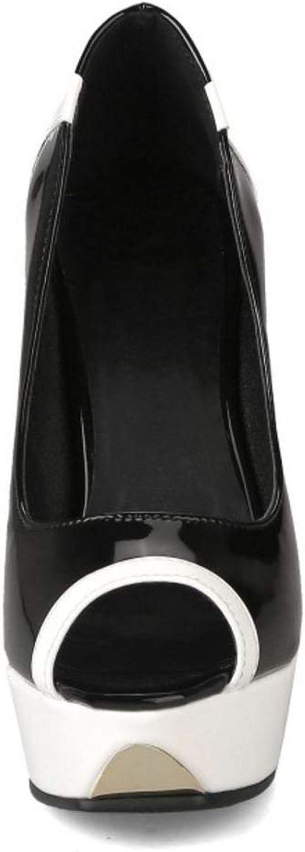 Unm Women Elegant Party High Heel Pumps Slip On Peep Toe Stiletto shoes