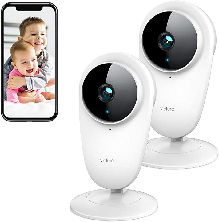 Telecamera ip di sorveglianza 2.4g wifi interno victure 2 pezzi 1080p PC420