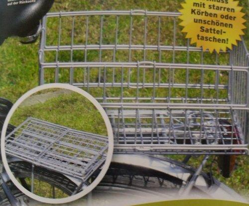 sopomarkt24 Klappbarer Fahrradkorb Gepäckträger Korb Fahrradzubehör Hinterradkorb 122