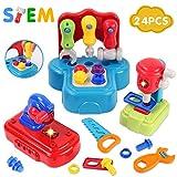 GILOBABY Baby und Kinder werkzeug set , Werkzeug mit realistischem Klang und Beleuchtung , Bauspielzeug für frühes Lernen ,für Jungen / Mädchen / Kleinkind , Geschenke. Geeignet für Alter über 2 Jahre