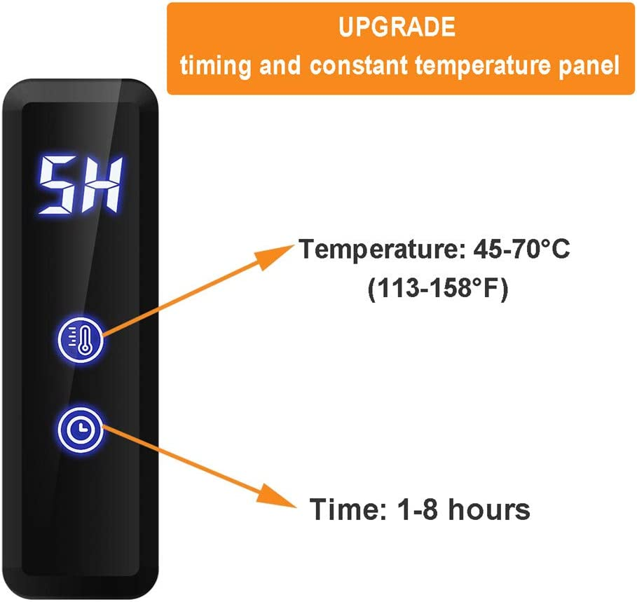 450 /× 600 /× 110mm,Hardwired 4 bares el/éctrica calienta la rejilla de secado con temporizador acero inoxidable 304 montado en la pared caliente de toallas Bastidores Toallero Calentador de ba/ño