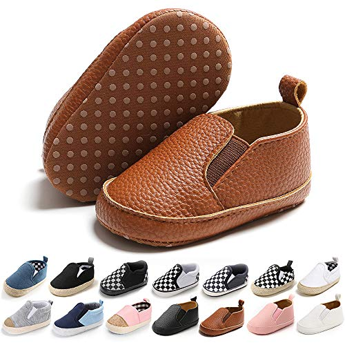 Baby Boy Brown Canvas Shoes