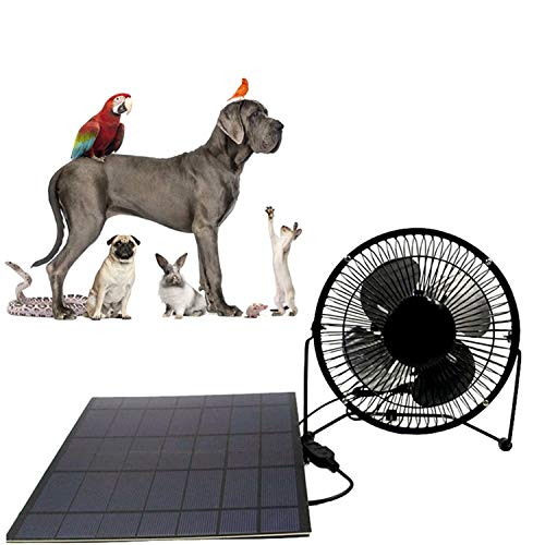 Solar fan 10w 4 inch Black Powered For Outdoor Home Cooling Ventilation