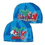 ARDITEX- Avengers-Cuffia da Nuoto in Poliestere, Colore Azzurro, AV11918