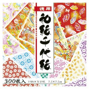 """Origami Paper - Washi Chiyogami Style, 300 Sheets�3, (900sheets) 10 Designs - MINI Size (3"""" Square) (Japan Import) Photo #2"""