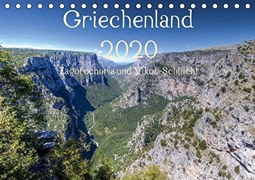 Griechenland 2020 - Zagorochoria und Vikos-Schlucht (Tischkalender 2020 DIN A5 quer): Griechenlands grüner Nordwesten in Bildern (Monatskalender, 14 Seiten ) (CALVENDO Orte)
