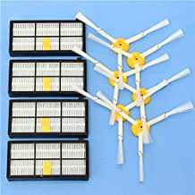 DORLIONA 10pcs Vacuum Cleaner Accessories Kit Filters and Brushes for iRobot Roomba 800/900 Series