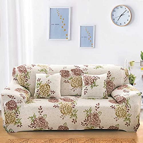 PPOS Funda de sofá Moderna Vintage Spandex Funda de sofá elástica sofá Silla Protector de Muebles de Sala de Estar Funda elástica D3 Loveseat 145-185cm-1pc