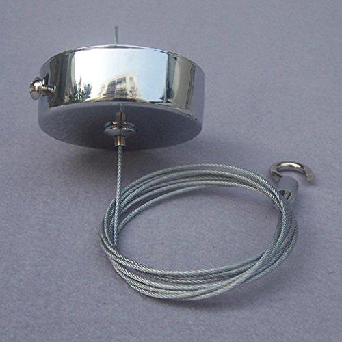 GRFH Chrome Sideboard Deckenplatte Stahl Wire Hook Licht Beleuchtung Zubehör Kronleuchter (3 Packungen)