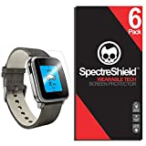 [6-Pack] Spectre Shield Screen Protector for Pebble Time Steel Case Friendly Pebble Time Steel Screen Protector Accessory TPU Clear Film